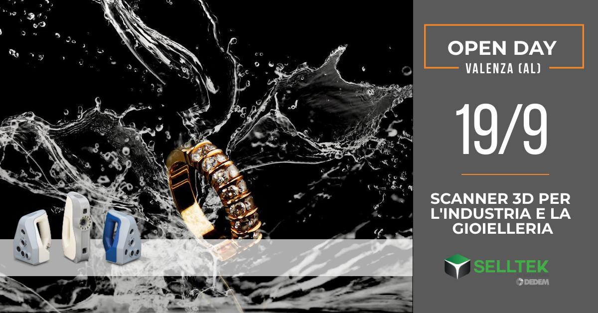 Open Day: Scanner 3D per l'industria e la gioielleria