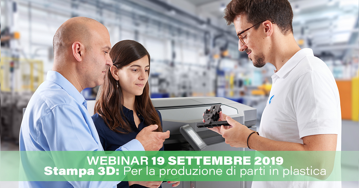 Stampa 3D per la produzione di parti in plastica